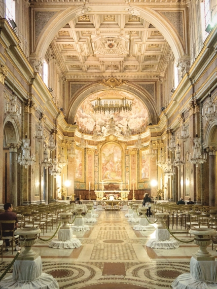 The interior of Santi Giovanni e Paolo.