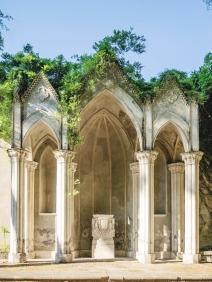 Neo-Gothic niches in the Villa Celimontana.