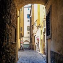 A Florentine alleyway.